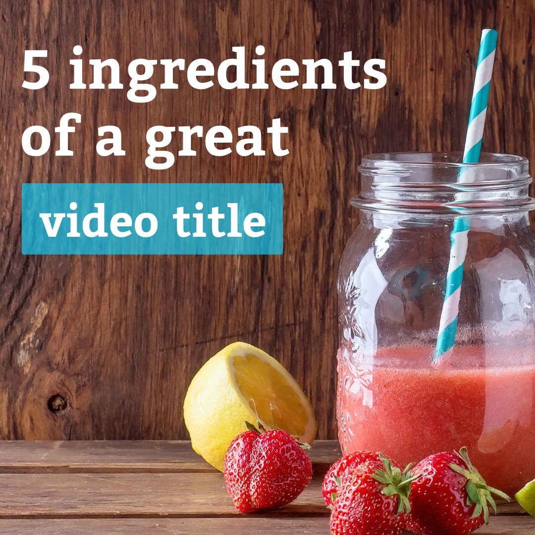 5 ingredients of a great title