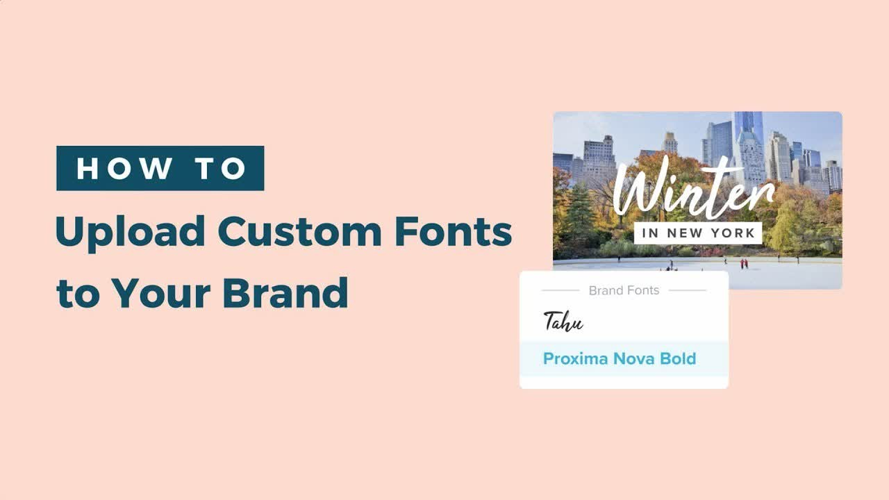 upload custom font to your brand