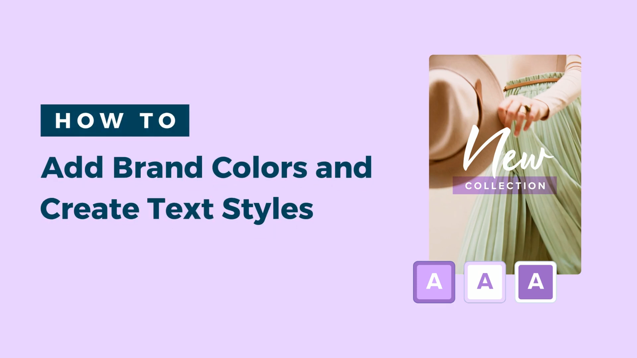 add brand color and create text style