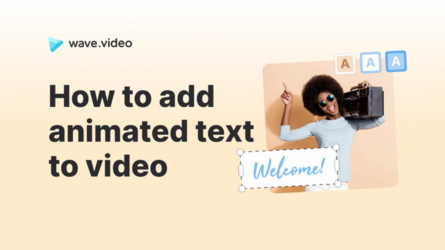 How to add animated text to video