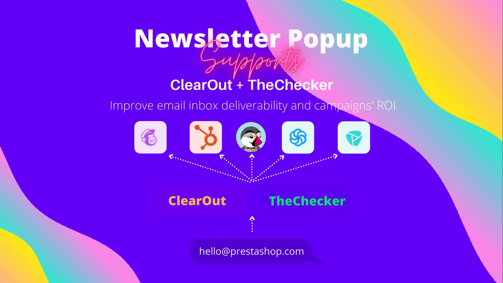 Newsletter Popup supports Clearout + theChecker