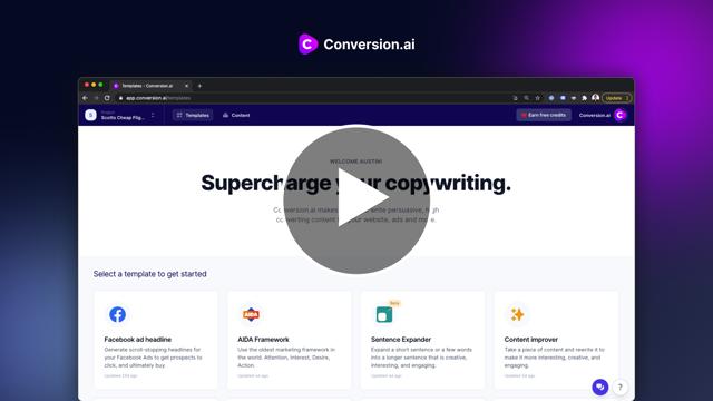 Introducing Conversion.ai Trailer