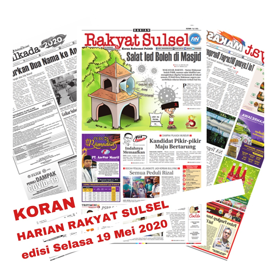 E-paper Harian Rakyat Sulsel edisi Selasa 19 Mei 2020