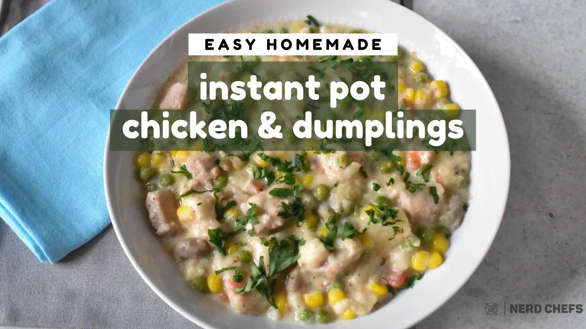 Instant Pot Chicken and Dumplings [16-9]